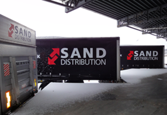 Sand Distribution lastbil